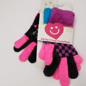 Little Miss Matched LittleMissMatched 3 Gloves NEW